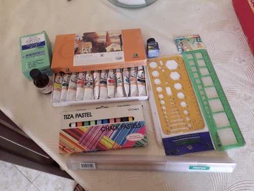 Remato kit, óleos, tiza pastel, escalimetro, diseño