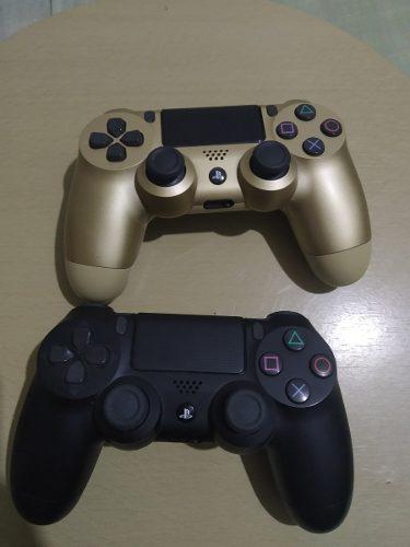 Control ps4 dualshock play4 negro y dorado original