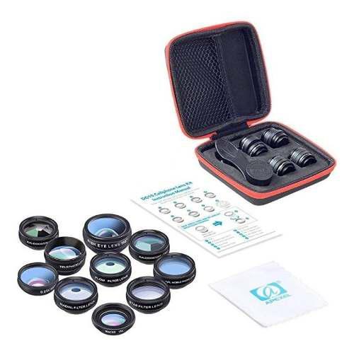 Kit de lente de cámara para teléfono celular 10 en 1