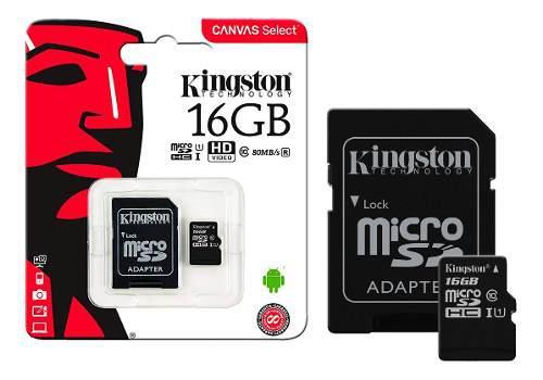 Memoria micro sd 16gb kingston clase 10 nueva bagc