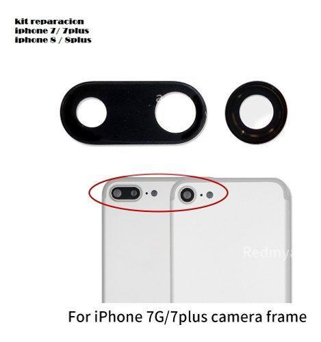 Vidrio lente cámara trasera para iphone7 /7 plus 8 /8p/ x