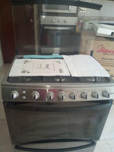 Cocina raina 6 hornillas en acero inoxidable
