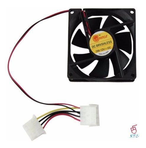 Fan cooler ventilador extractor 8cmx8cm 4 pines case 12v xtc