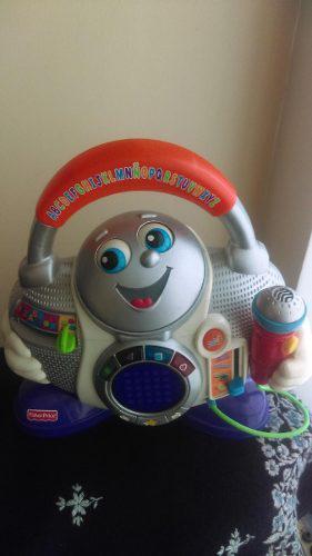 Fisher-price radio musical canta baila juguete bebe navidad!