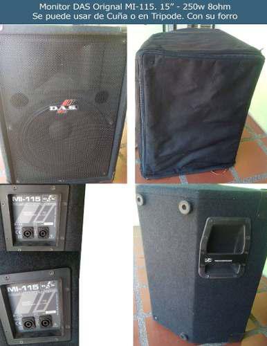 Monitor das 15 m-115 250w 8 ohm con forro (solo 1)
