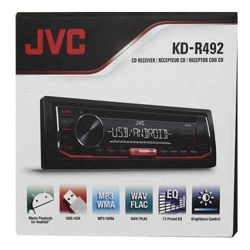 Reproductor jvc kd-r492 mp3 / usb / tuner / aux / android