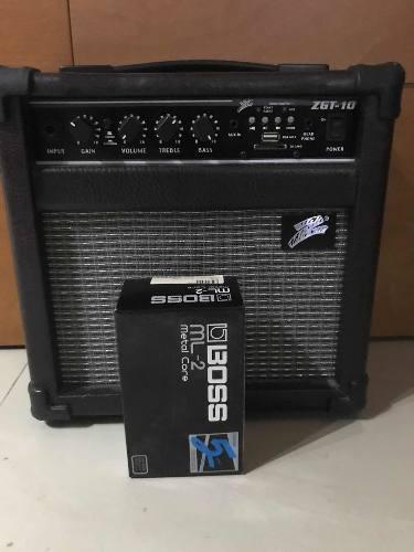 Amplificador y pedalera de guitarra eléctrica boss