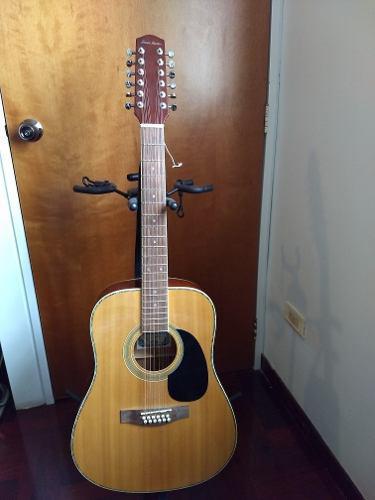 Guitarra acústica 12 cuerdas, como nueva