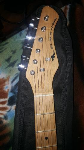Guitarra electrica black hawk con amplificador