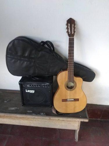 Guitarra electroacústica giannini amplificador laney forro