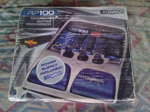 Pedalera de guitarra multiefectos rp100 digitech 80 efectos