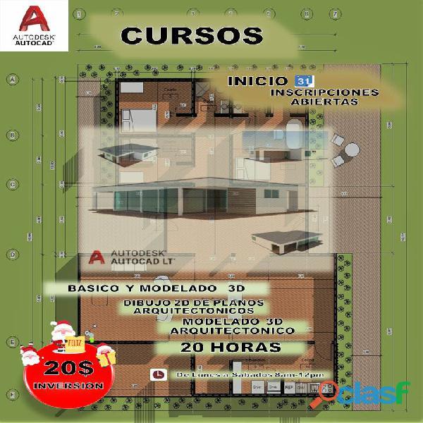 Cursos autocad arquitectonico 2d y 3d