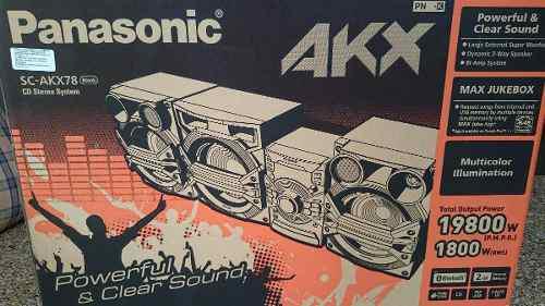 Equipo sonido panasonic sc-akx78 bluetooth (260v) rematando