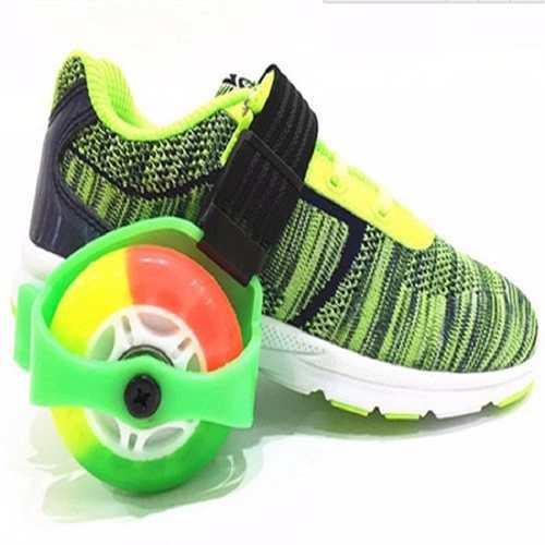 Patines 2 ruedas goma adultos niños luces adaptables