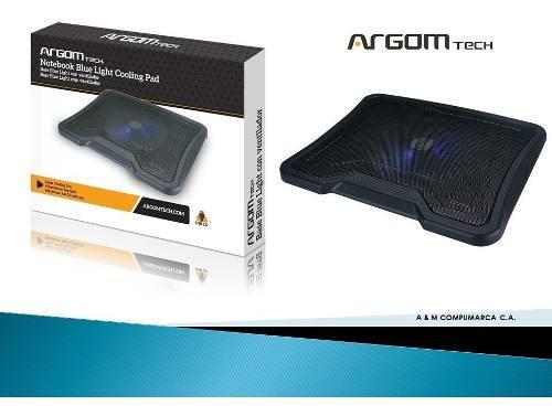 Base argom portatil 1 ventilador / 2 puertos usb arg-cf-1584