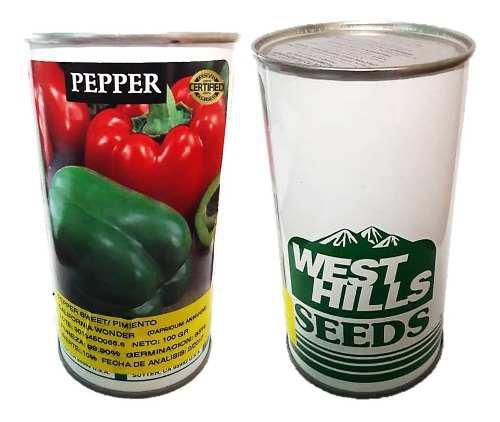 Semillas de pimenton lata de 100 gramos importadas