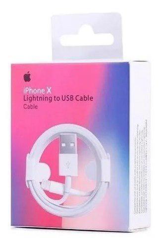 Cable iPhone 5 6s 7 8 X Xs iPad Lightning Carga Rapida 1 Mt