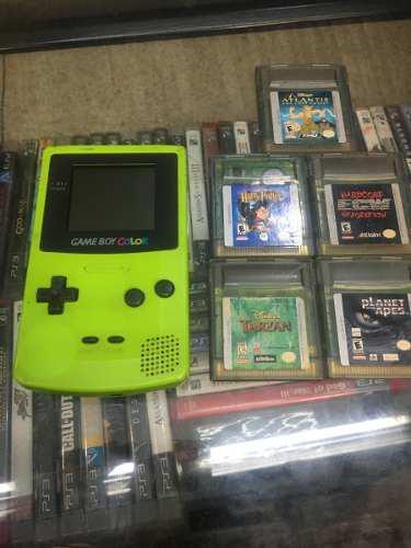 Game boy color color verde excelente condiciones tienda