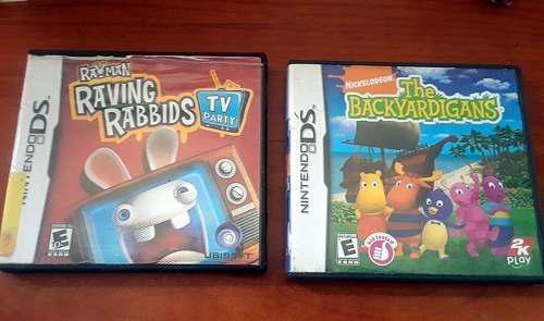 Juegos nintendo (backyardigans-rayman rabbids) orig.usado.