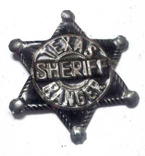 Juguete Prendedor Antiguo Sheriff Texas Ranger Made In Japan