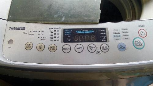 Lavadora automática lg 14 kg turbo drum
