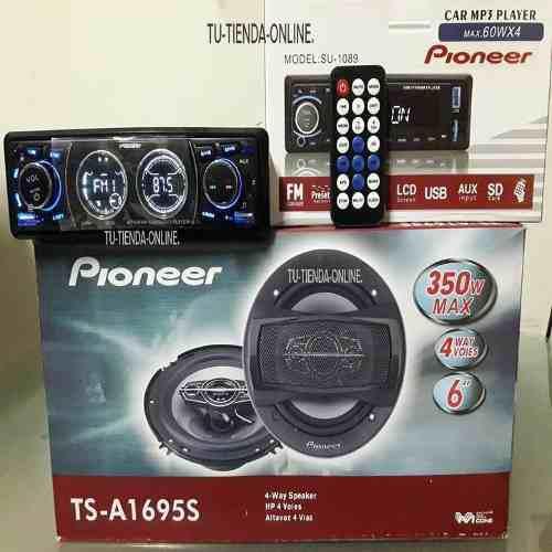 Reproductor pioneer bluetooth + cornetas pioneer combo