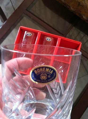 Vasos de cristal bohemia