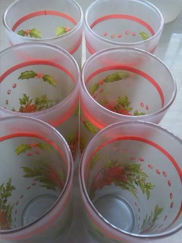 Vasos de vidrio de navidad