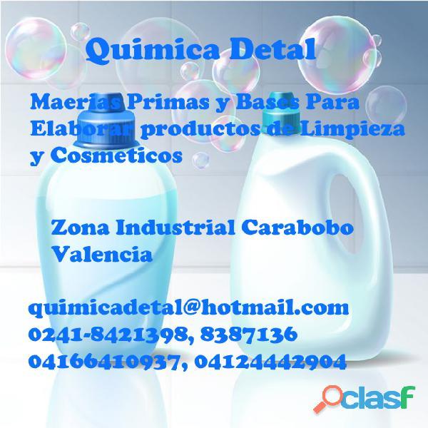 MATERIAS PRIMAS Y BASES PARA ELABORAR PRODUCTOS DE LIMPIEZA Y COSMÉTICOS
