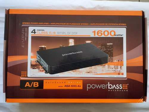 Amplificador de 4 canales 600wts rms powerbass asa-600.4x