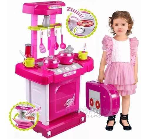 Juego de cocina niña princesas luces y sonido