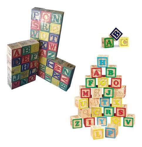 Juguete lego tacos madera letras 15 piezas numero figuras r4