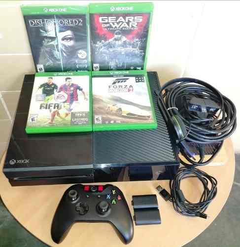 Xbox one 500gb, control, 7 juegos, kit de carga original