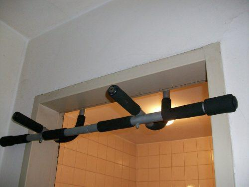 Barra ejercicios puerta deporte accesorio iron gym pro fit