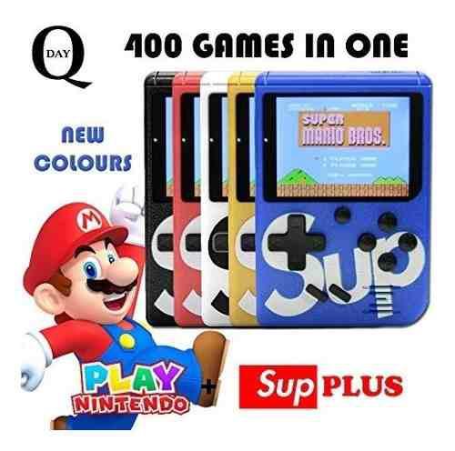Consola de juegos portatil sup game 400 juegos nintendo tv