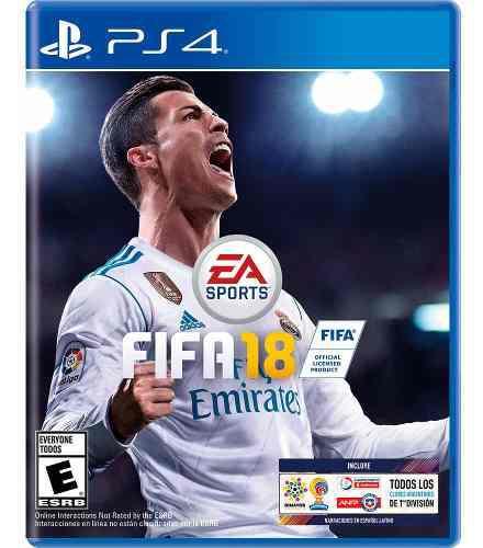 Fifa 18 juego físico cd ps4 play 4 original nuevos sellados