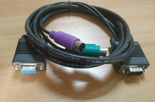 Cable Kvm Vga Db15 Macho A Vga Db15 Hembra 1.5mts 2 Ps2 1usb