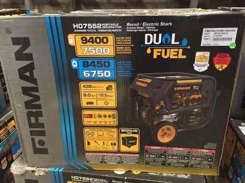 Generador /planta eléctrica firman americana 9000 w dual
