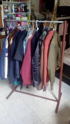 Exhibidor de ropa, rack, perchero, closet tipo burro, acero.