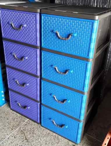 Gavetero plastico organizador multiuso 4 gavetas moderno