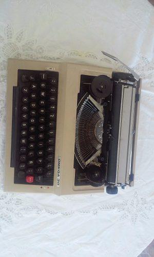 Maquina de escribir manual portátil marca omega 30
