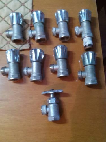 Plomeria: llave d arresto 1/2x1/2 acero inox.usadas be 2vds