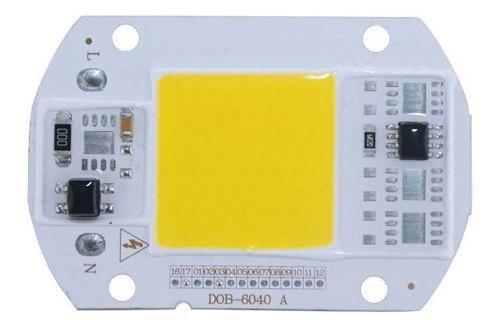 Chip led de potencia 50w luz fria + super kit de