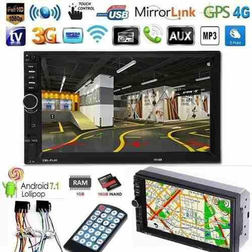Reproductor 2 din 7 radio mp5 usb control 70vrds