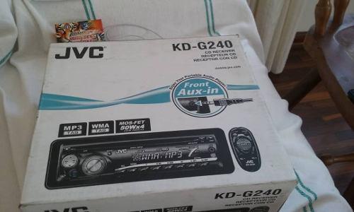 Reproductor jvc modelo kd-g240 radio/ cd/ mp3.