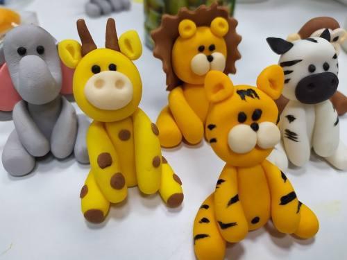 Animales baby safari 3d 4,5 cm