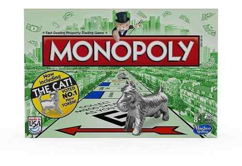 Monopolio hasbro original (modelo bienvenida al gato) -25-