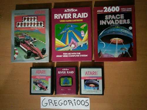 Atari 2600, 3 juegos completos, precio v!