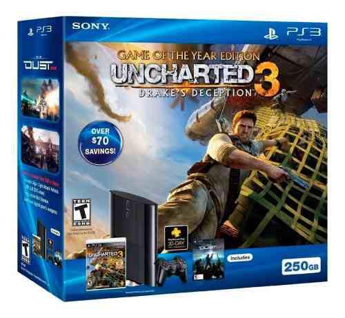 Consola playstation 3 ultra slim 250gb con juego original