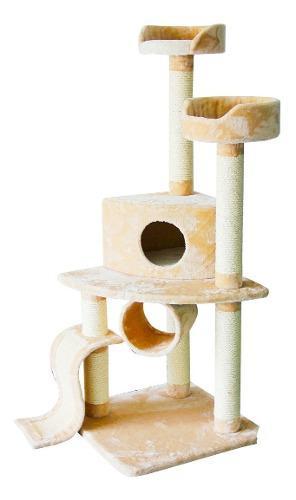 Juguete para gatos torre arañador rascador 54x54x120 cm